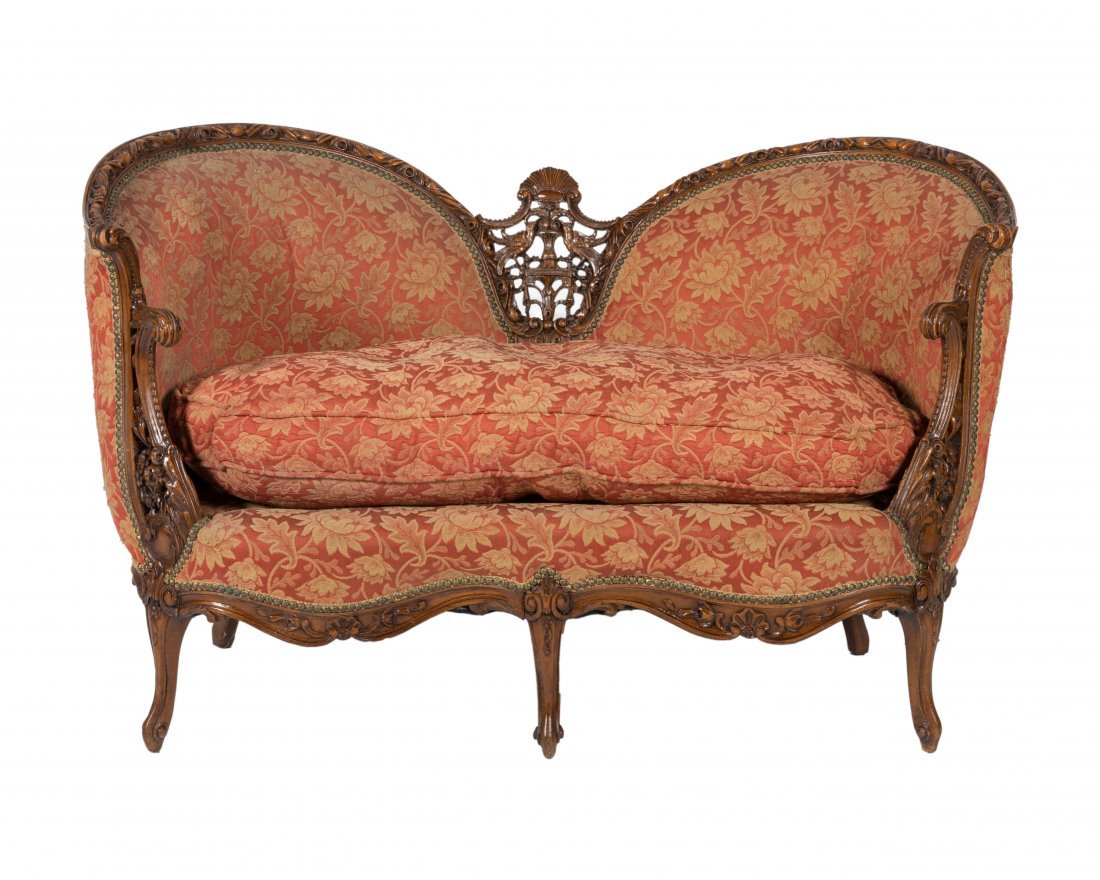 Carved French Love Seat