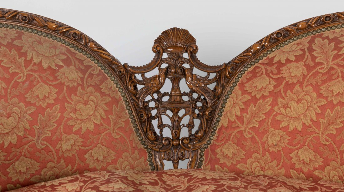 Carved French Love Seat - 2