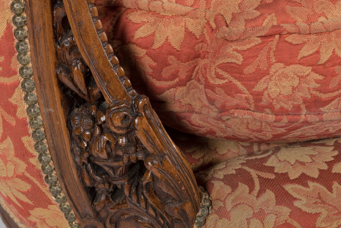 Carved French Love Seat - 4