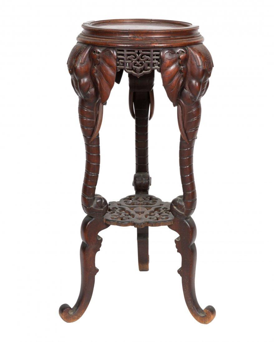 Aesthetic Walnut Victorian Marble Top Pedestal