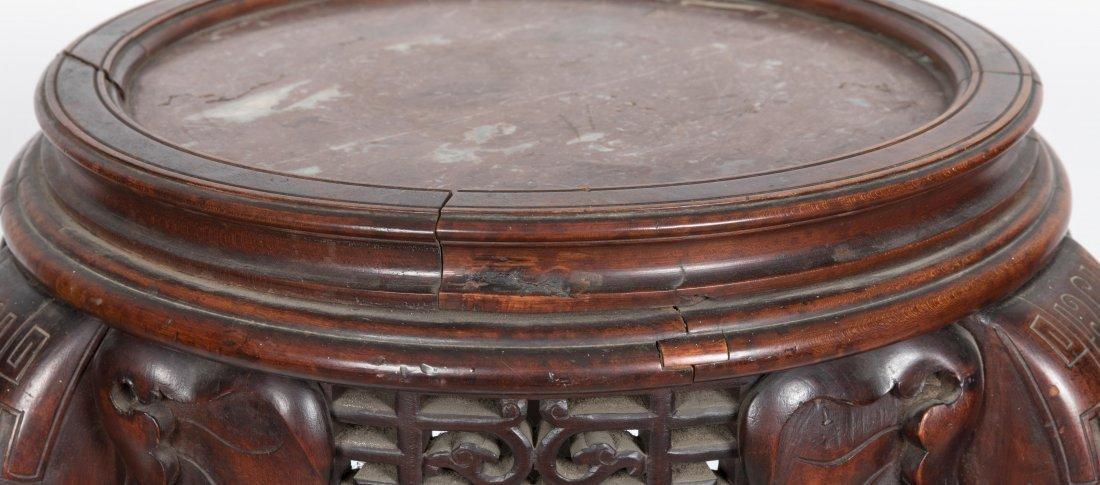 Aesthetic Walnut Victorian Marble Top Pedestal - 3