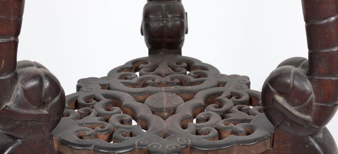 Aesthetic Walnut Victorian Marble Top Pedestal - 4
