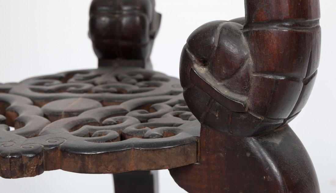 Aesthetic Walnut Victorian Marble Top Pedestal - 5