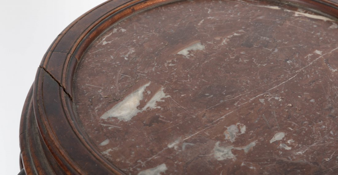 Aesthetic Walnut Victorian Marble Top Pedestal - 7