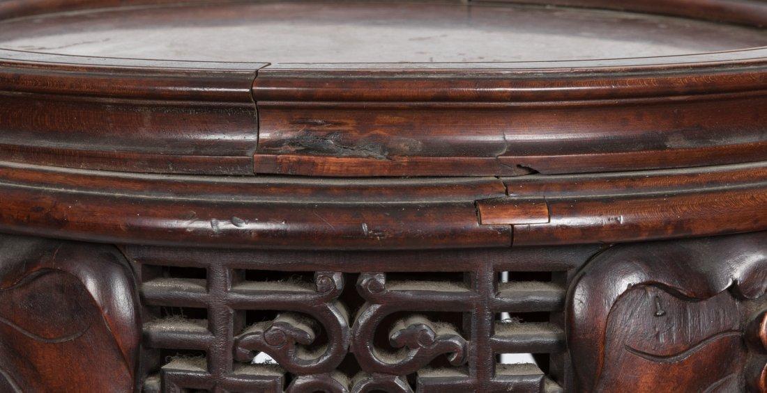 Aesthetic Walnut Victorian Marble Top Pedestal - 8