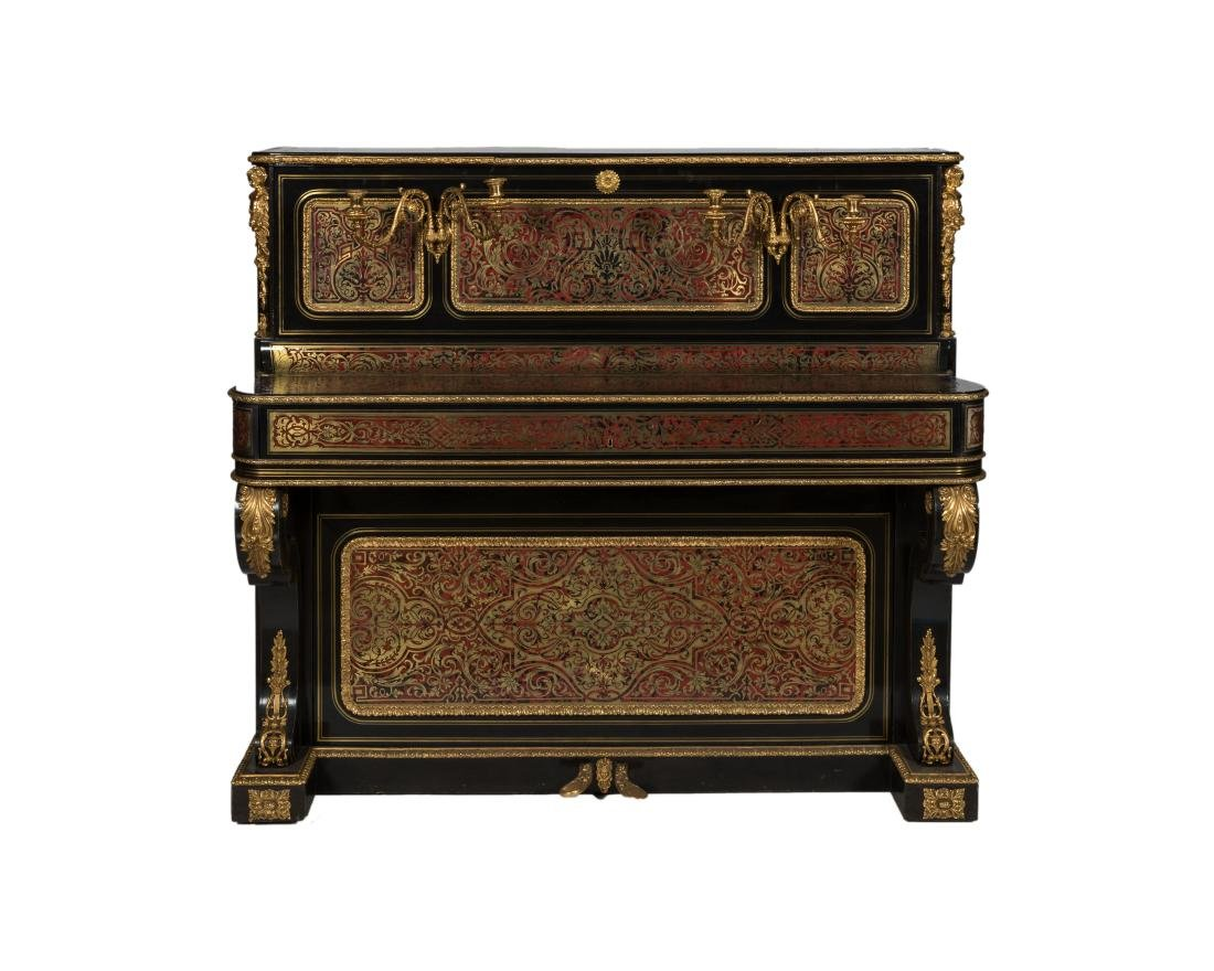 Van Overbergh Exceptional Boulle Piano