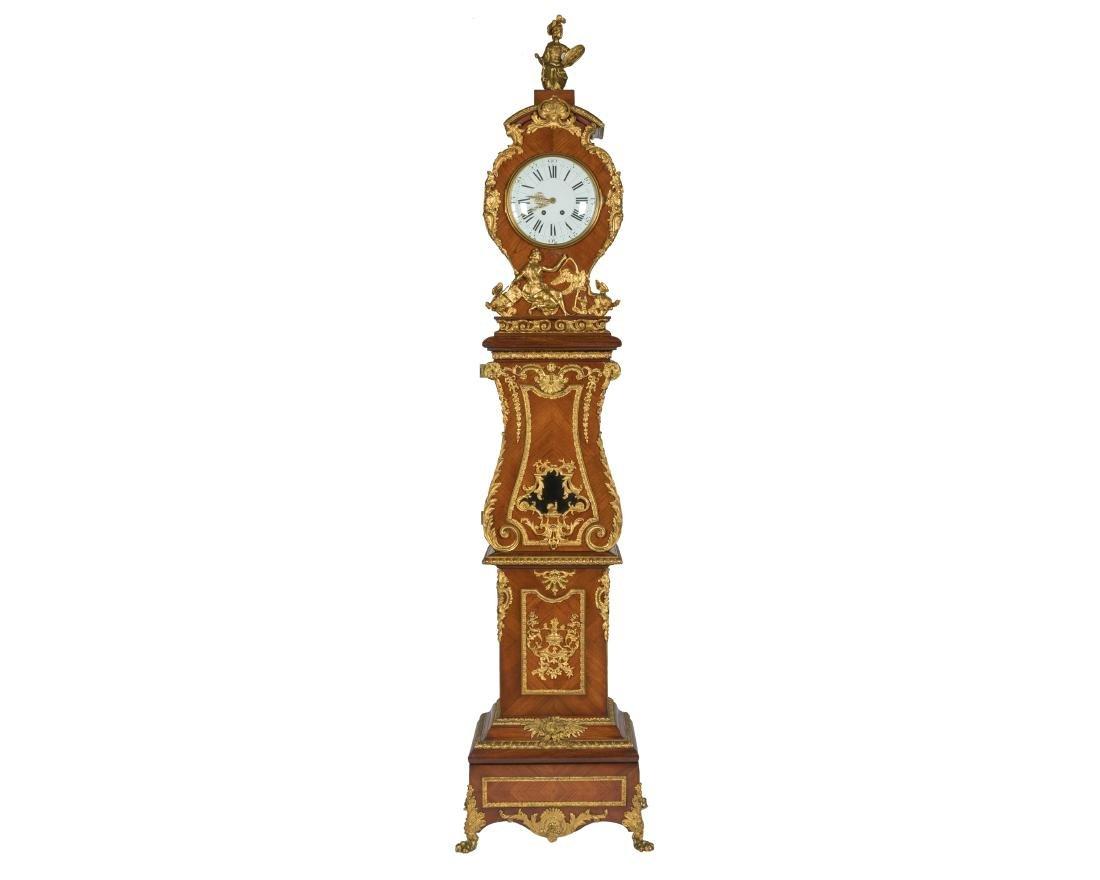 Impressive 19th c. Bronze Mounted Tall Case Clock
