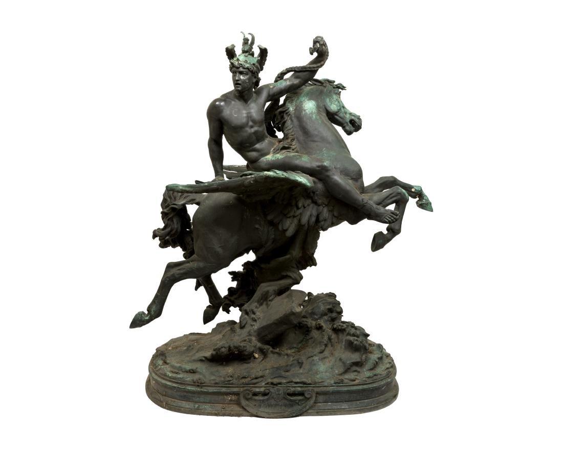 Large Bellerophon Bronze - Signed