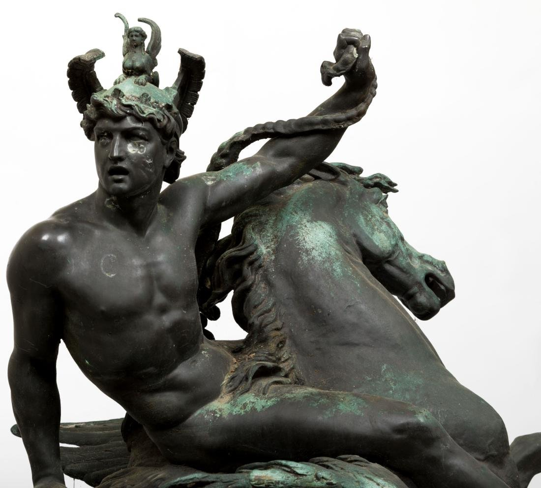 Large Bellerophon Bronze - Signed - 2