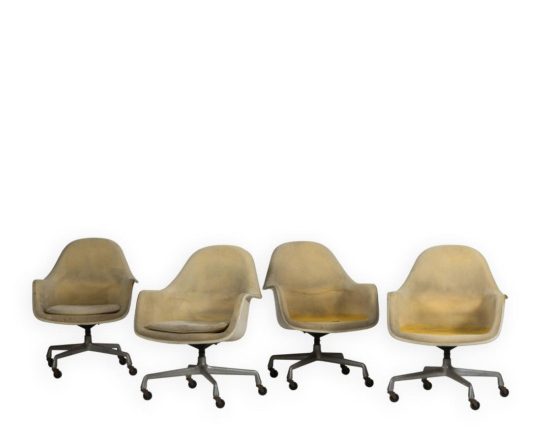 Four Herman Miller Swivel Chairs - Signed