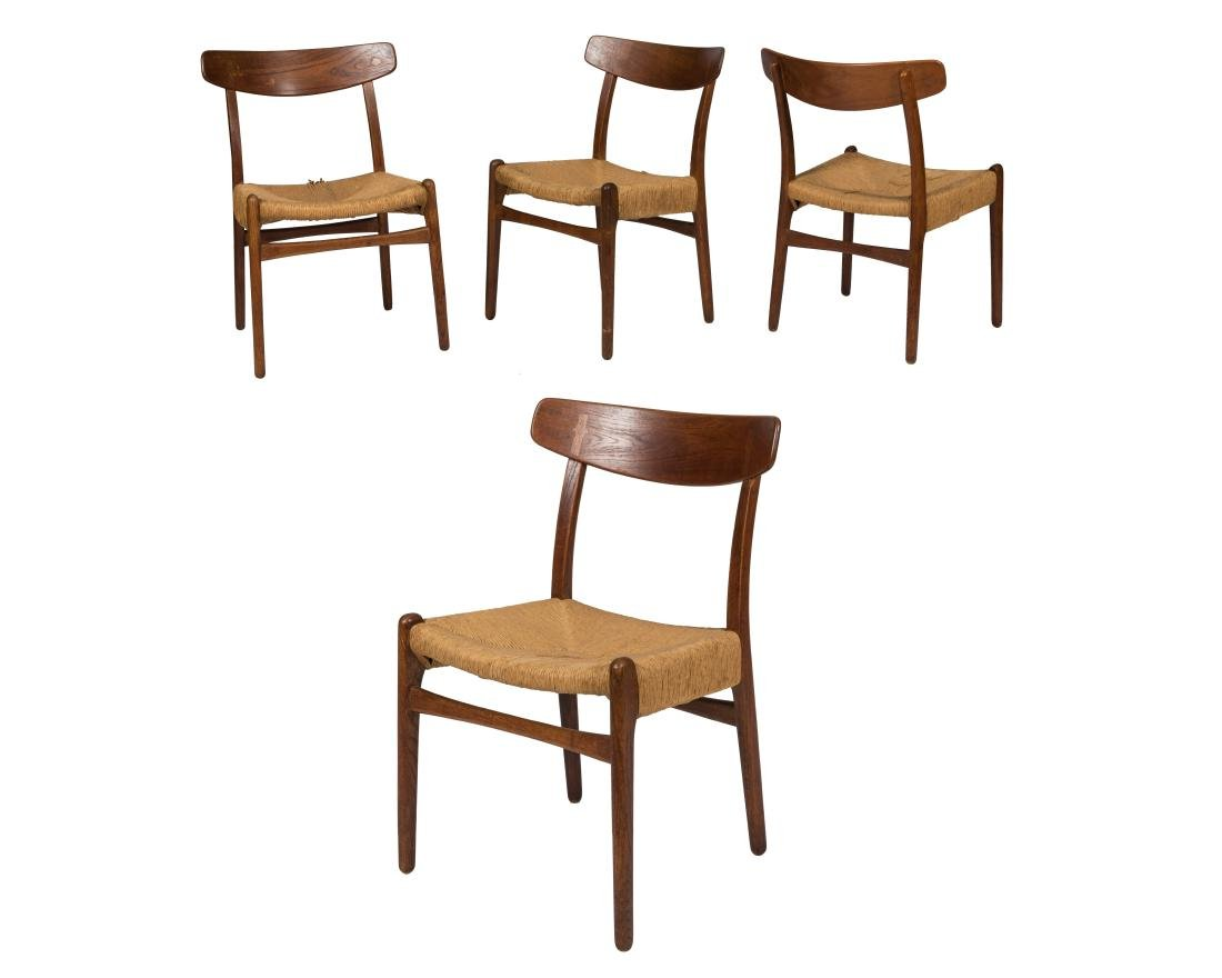 Hans Wegner CH 22 Side Chairs - Set of Four