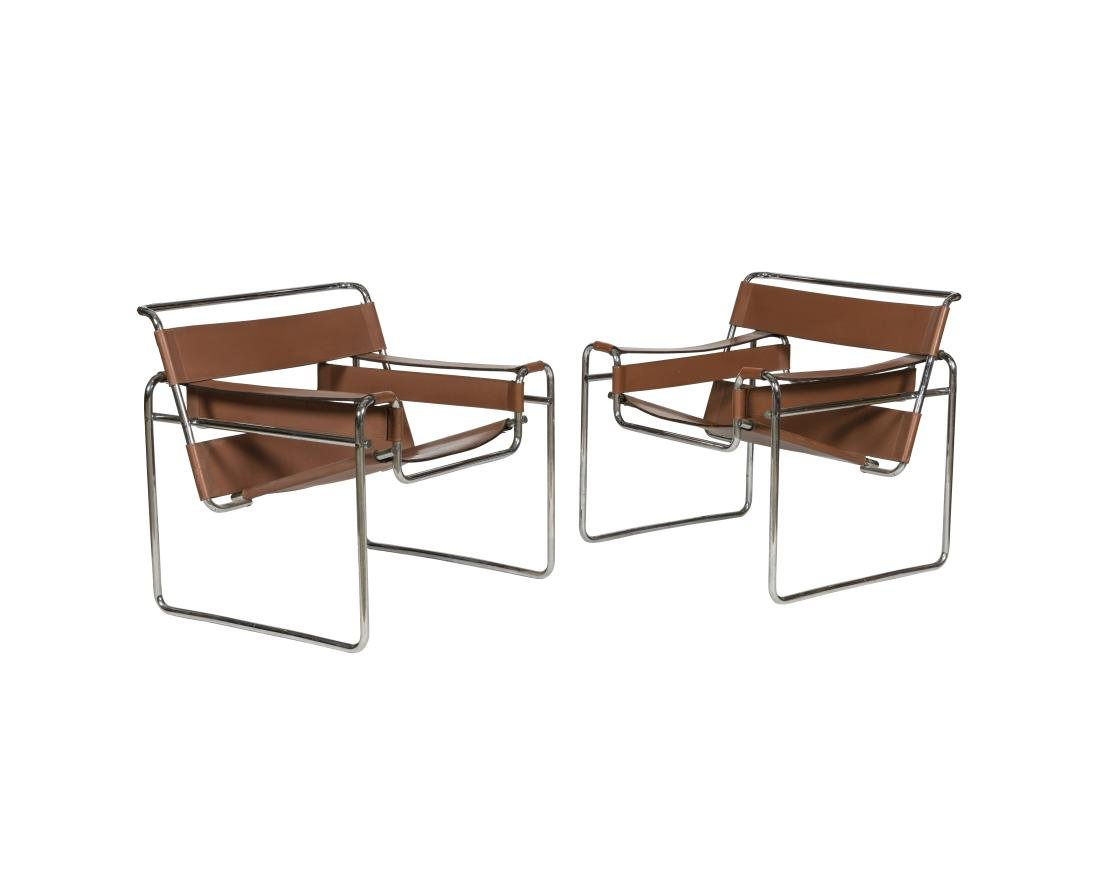 Marcel Breuer for Knoll Pair Wassily Chairs