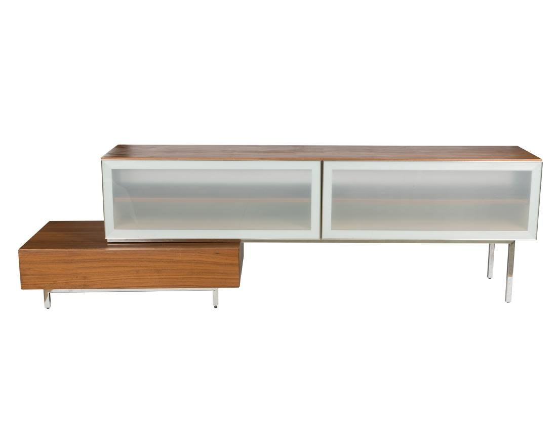 two part adjustable sideboard