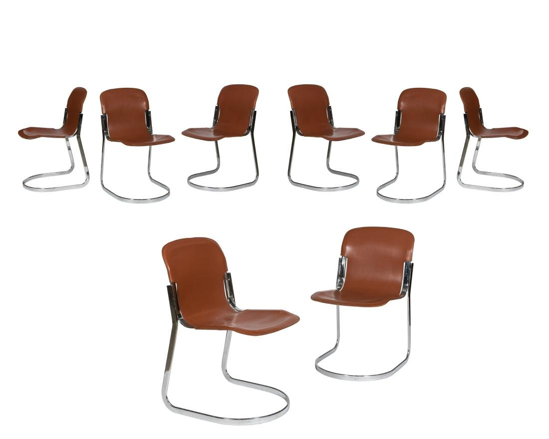 Willy Rizzo for Cidue Leather Chairs - Eight