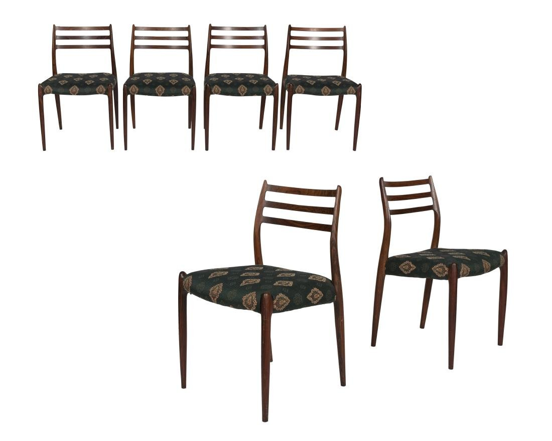 Niels Moller Model 78 Rosewood Dining Chairs - Six