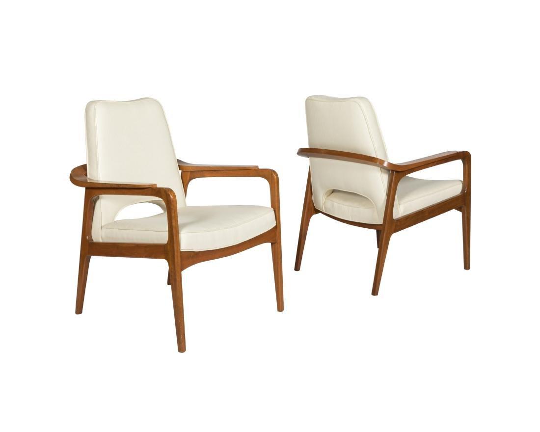 Sigvard Bernadotte Pair Lounge Chairs