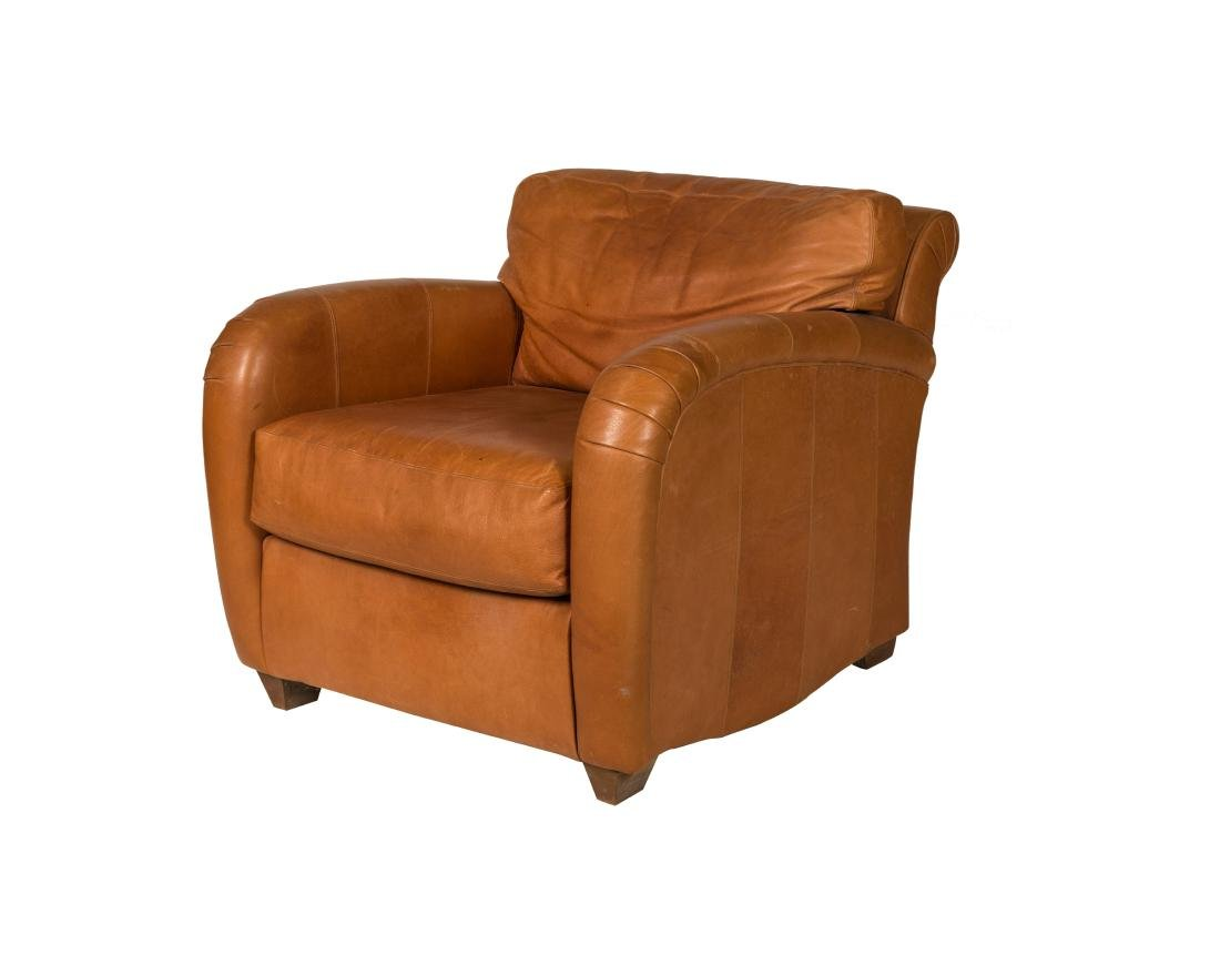 Leather Deco Style Club Chair