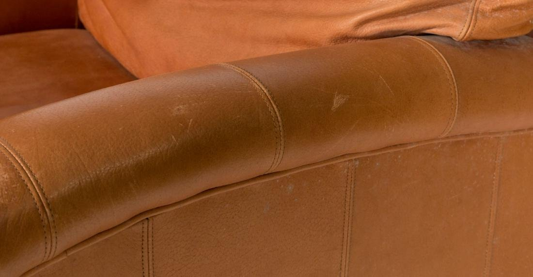 Leather Deco Style Club Chair - 2