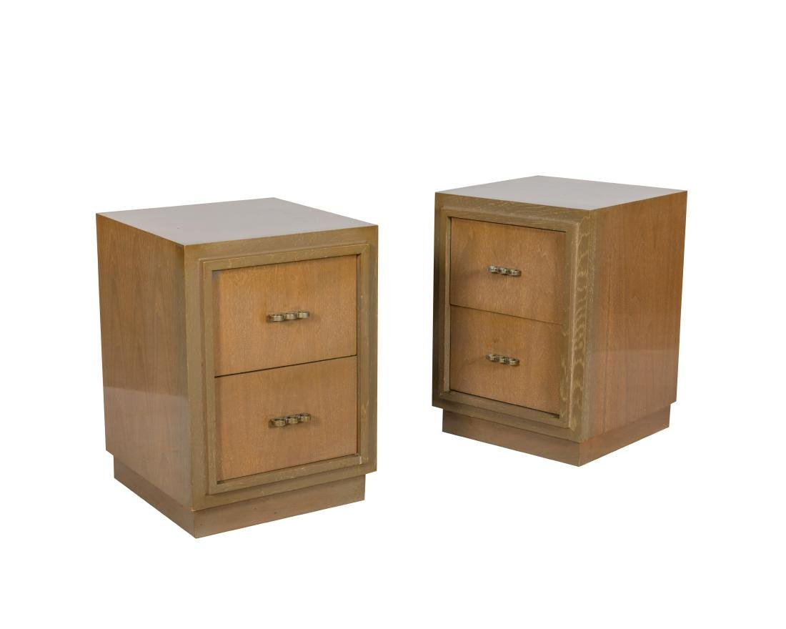 Paul Frankl (Attr.) Walnut Nightstands - Pair