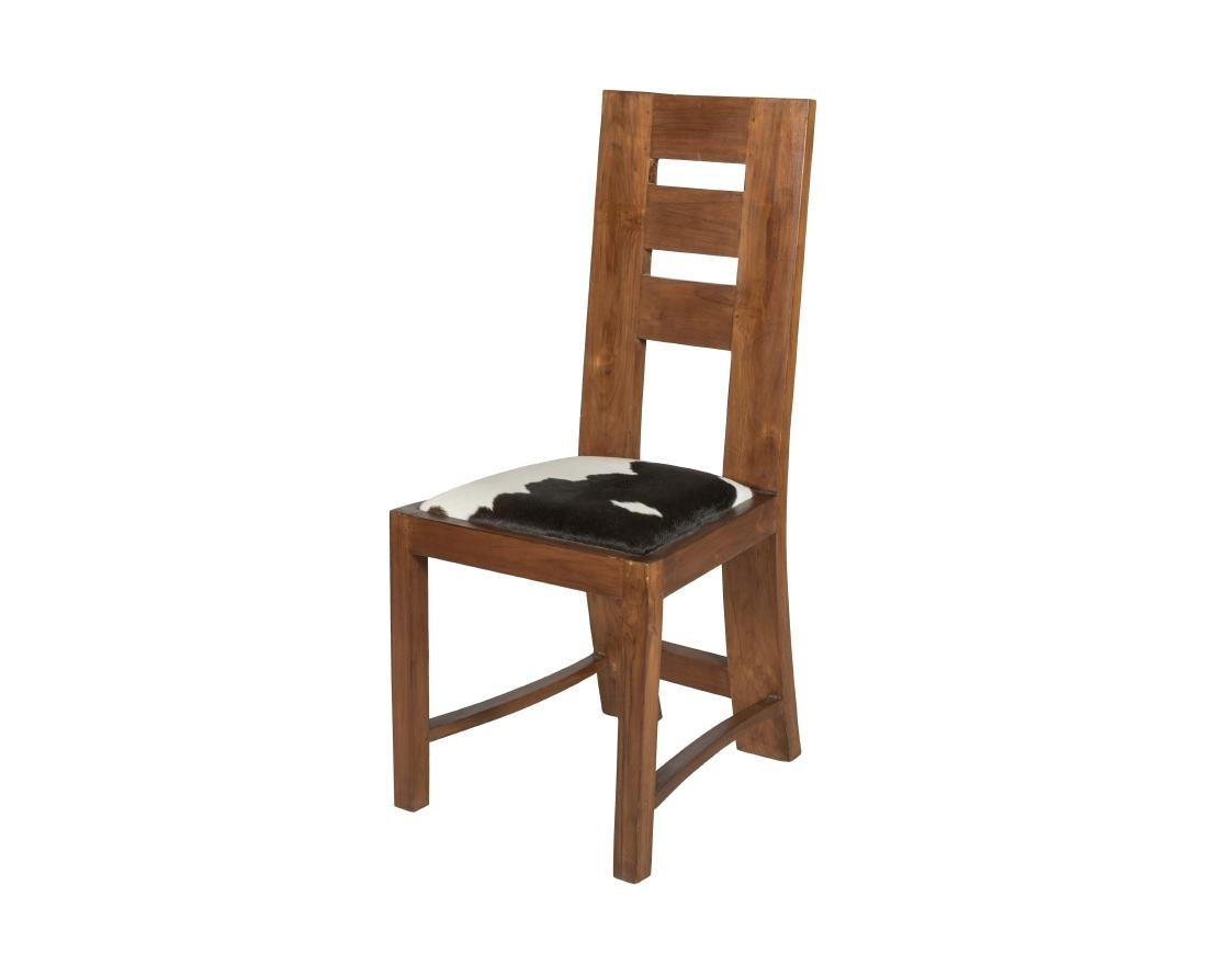 Mission Chair with Cowhide