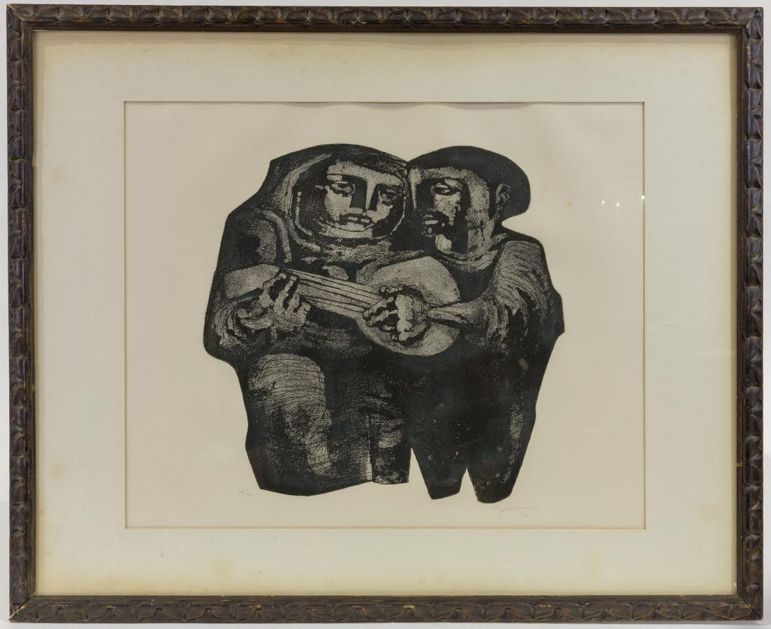 Lithograph - Musicians - Signed, Numbered and Dated