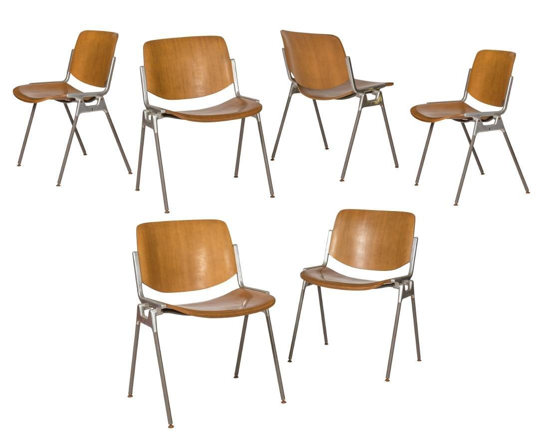 Giancarlo Piretti for Castelli DSC 106 Chairs