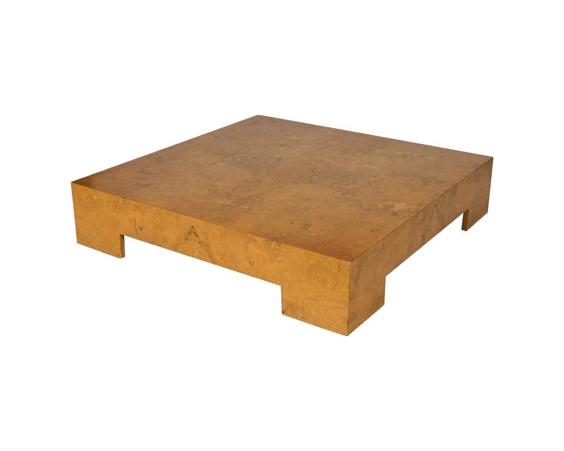 Milo Baughman Thayer Coggin Burl Coffee Table