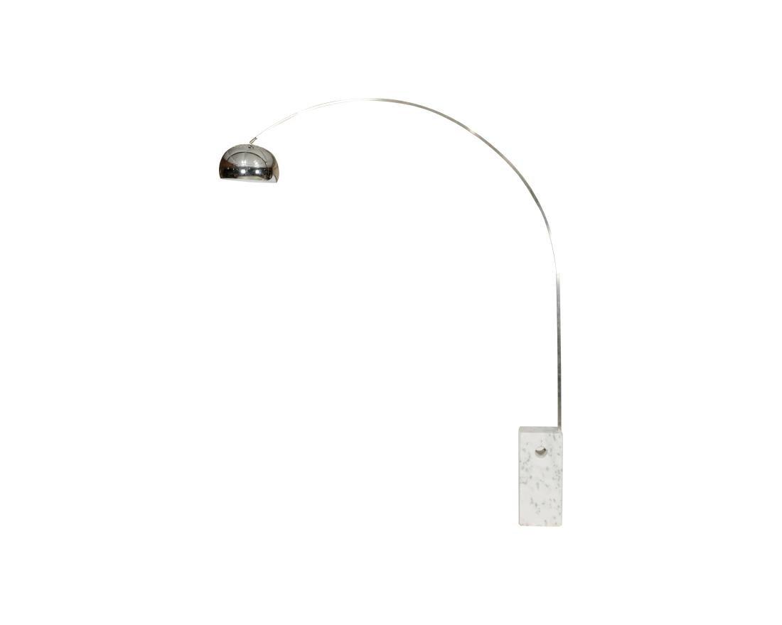 Carrara Marble Arc Lamp