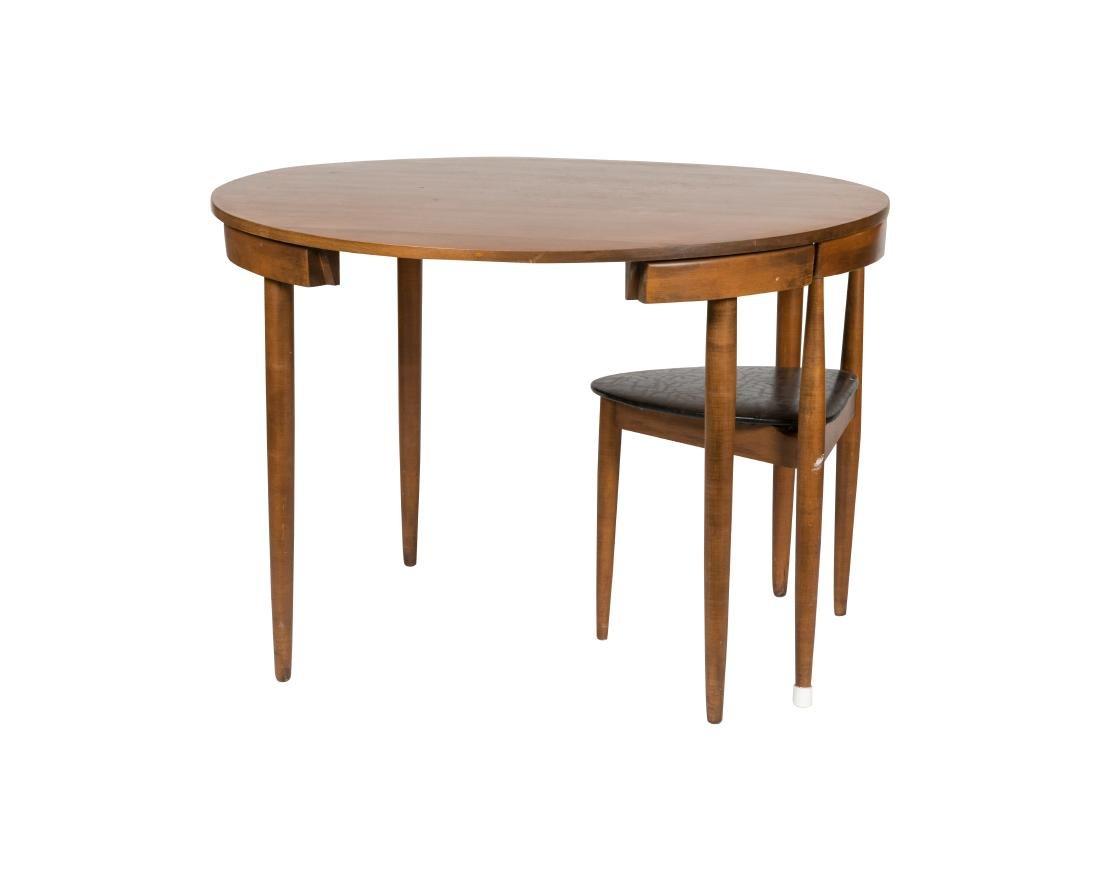 Hans Olsen for Frem Rojle Table and Single Chair