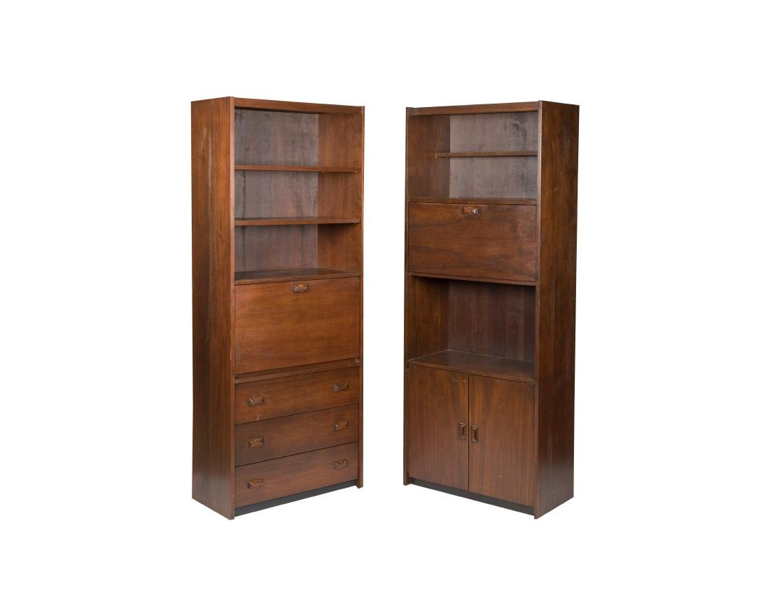 Pair Danish Bookcases