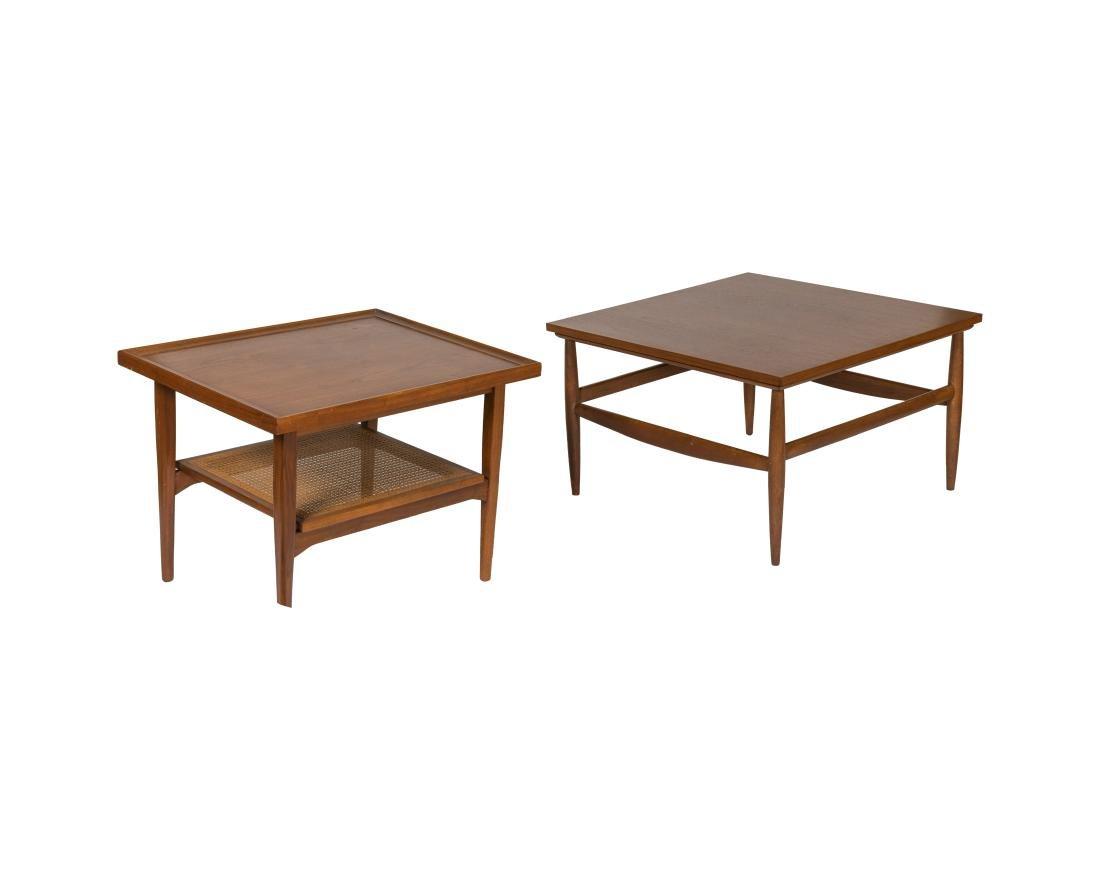 Kipp Stewart Lamp Table and Walnut Table
