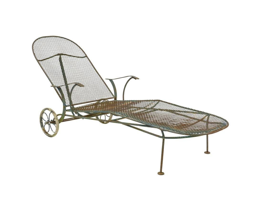 Russell Woodard Iron Chaise Lounge