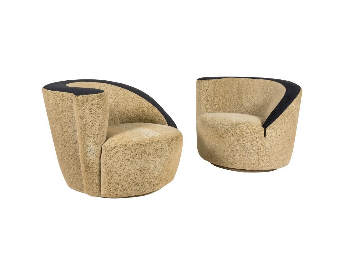 Nautilus Swivel Chairs - Pair