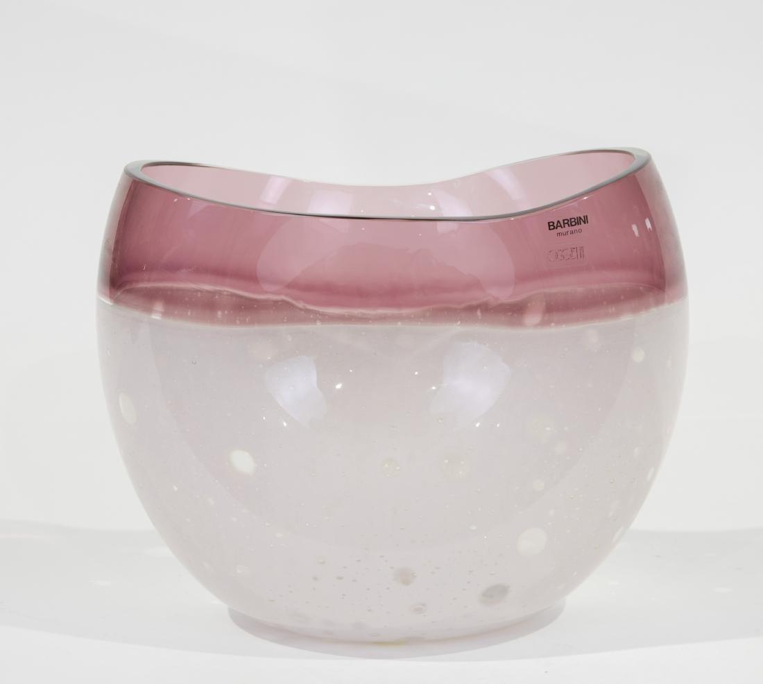 Alfredo Barbini for Oggetti Glass Vase - Signed