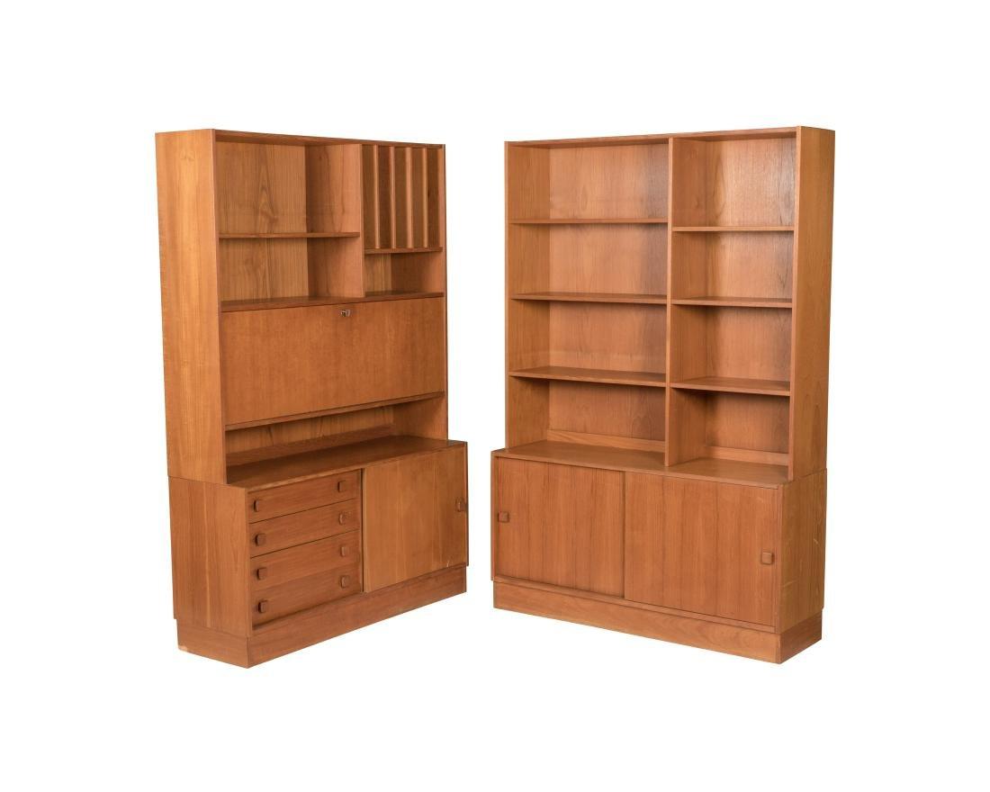 Domino Mobler Danish Teak Bookcases - Pair