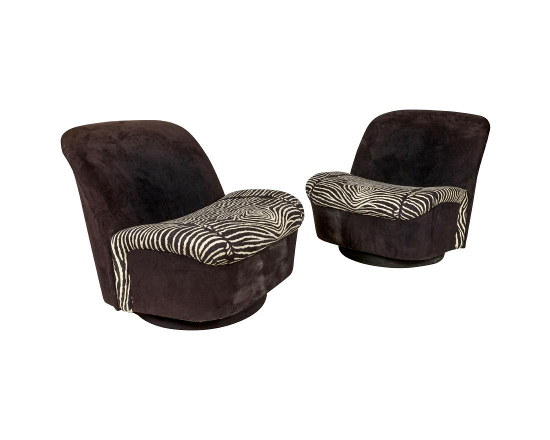 Milo Baughman for Directional Swivel Chairs - Pair