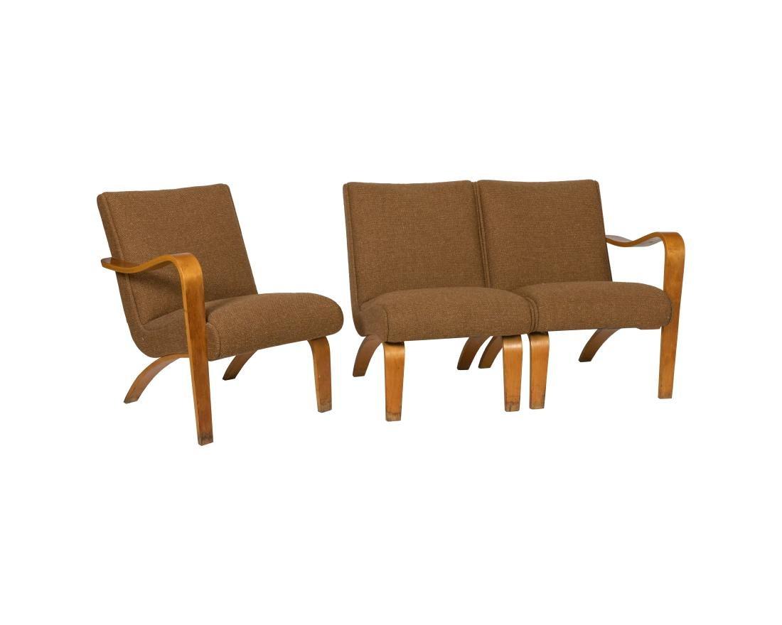 Early Thonet Three Piece Modular Sofa