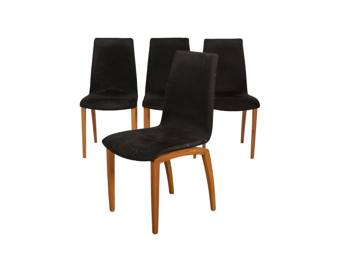 Italian Sculpted Dining Chairs - Four