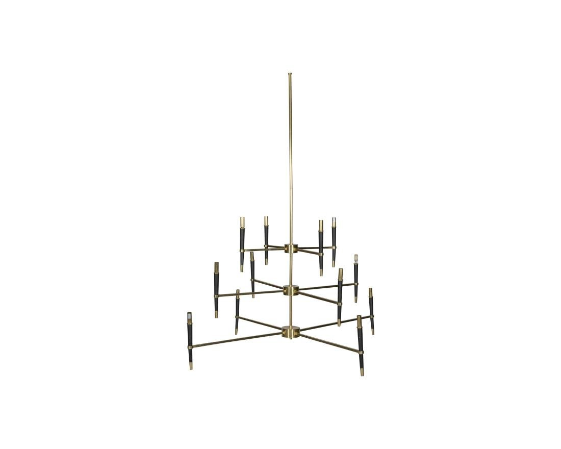 Ventana Three Teir Brass Chandelier