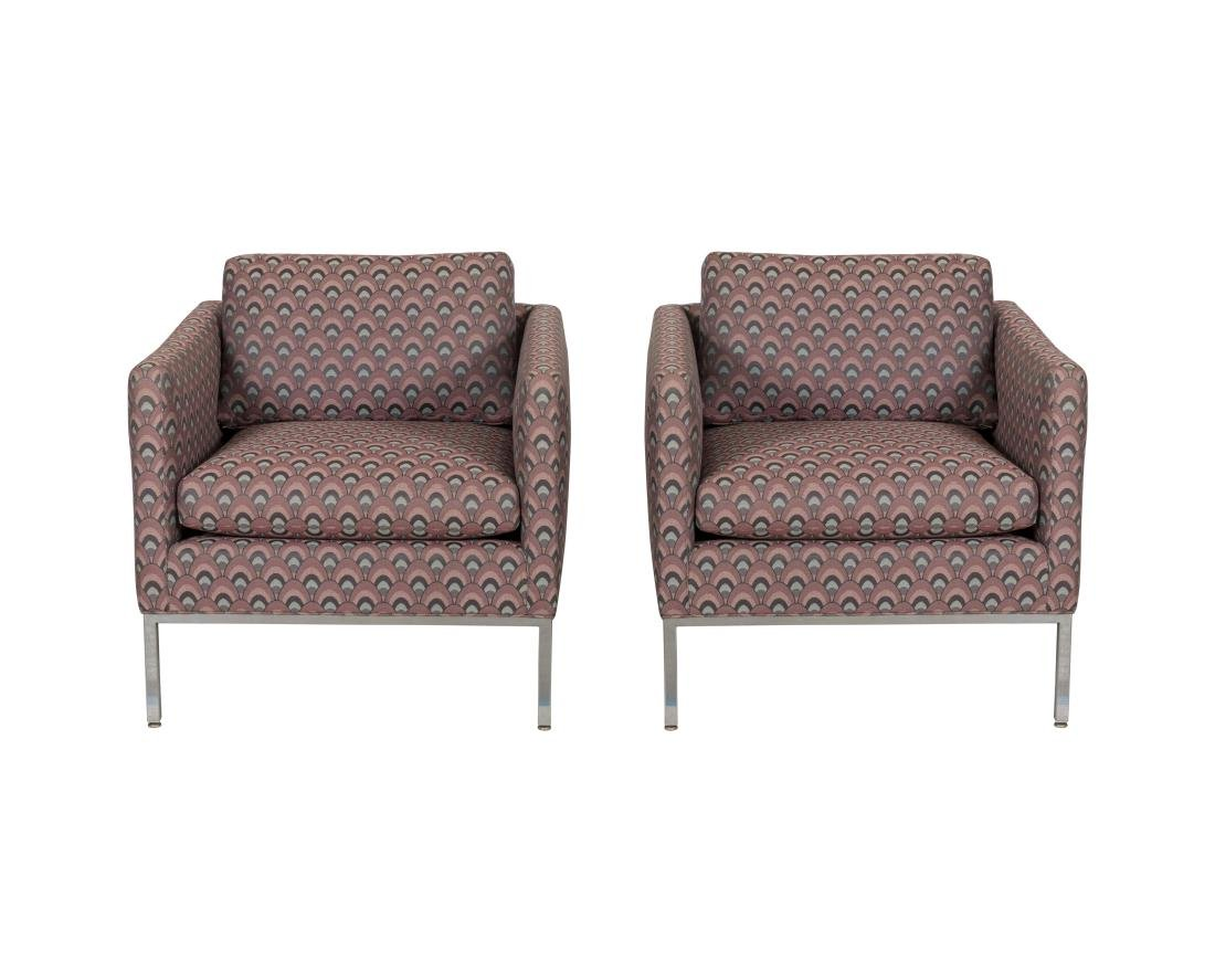 Florence Knoll (Attr.) Lounge Chairs - Pair