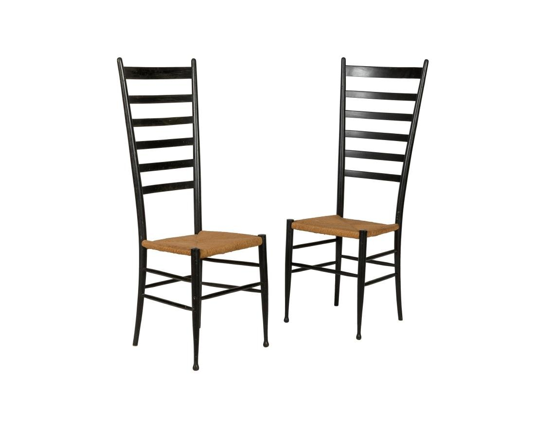 Gio Ponti Style Ladder Chairs - Pair