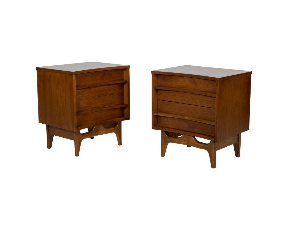 Young Manufacturing Co. Walnut Nightstands - Pair