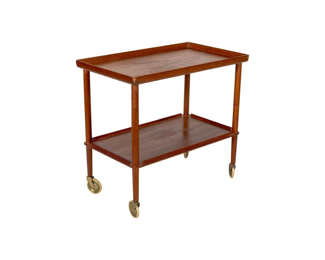 John Stuart Danish Teak Tea Cart - Signed