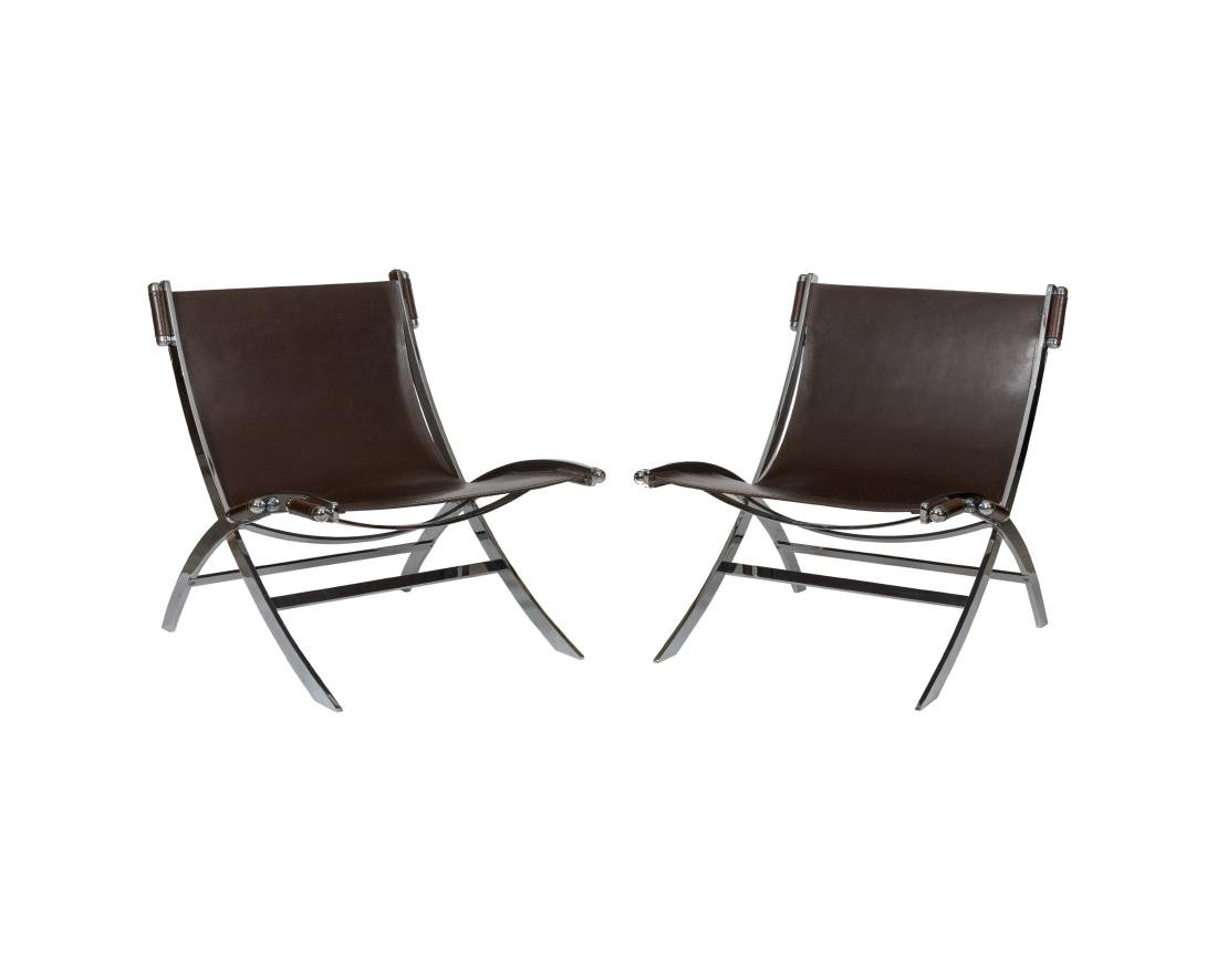 Flexform Italy Lounge Chairs - Pair