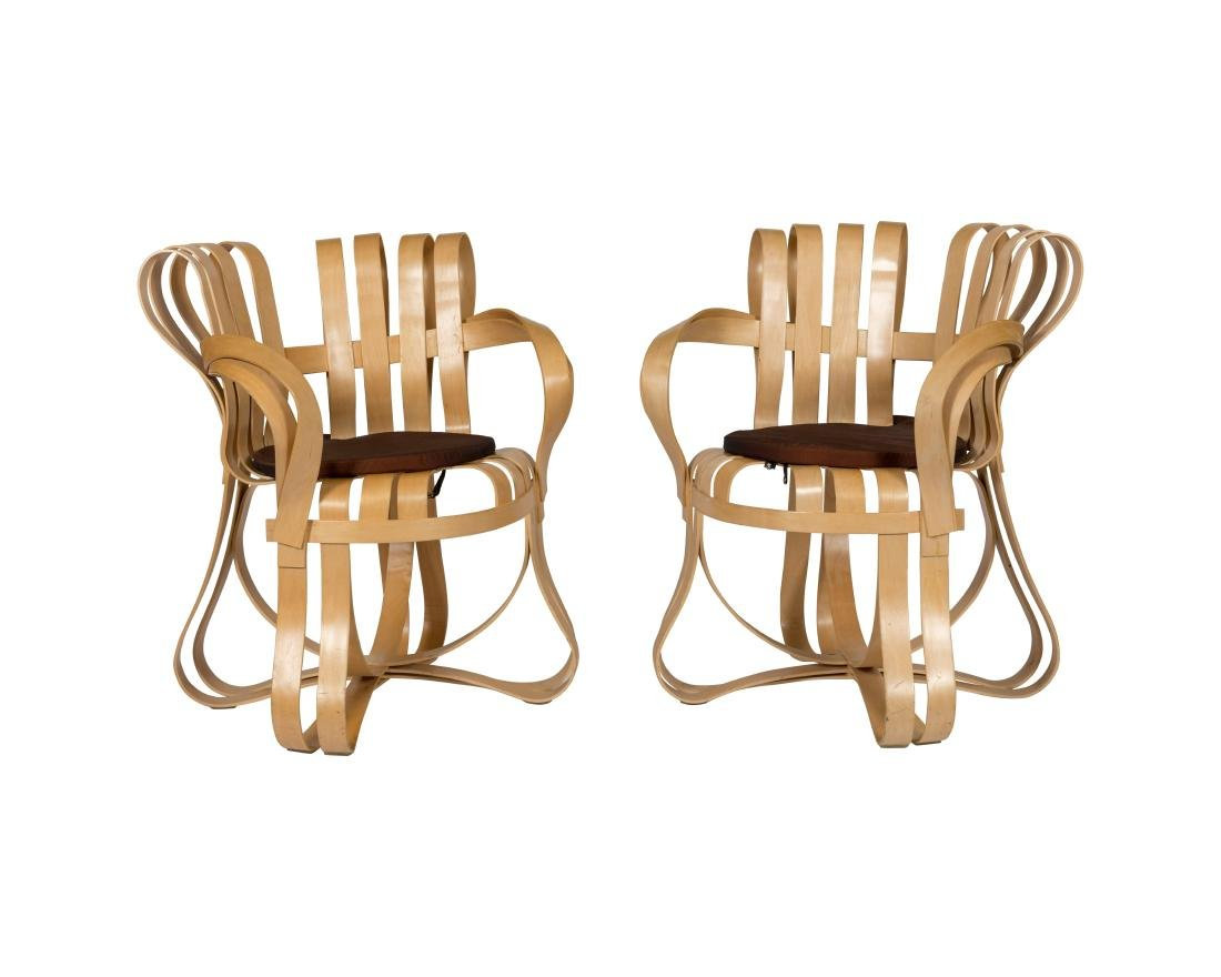 Frank Gehry Cross Check Chairs - Pair