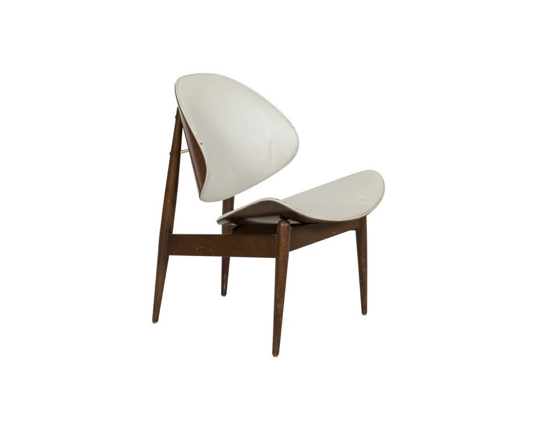 Walnut Clam Shell Chair