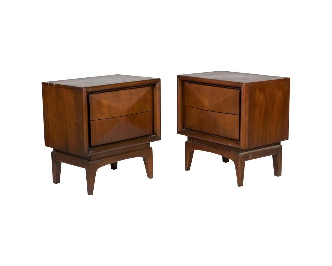 United Furniture Kagan Style Nightstands - Pair