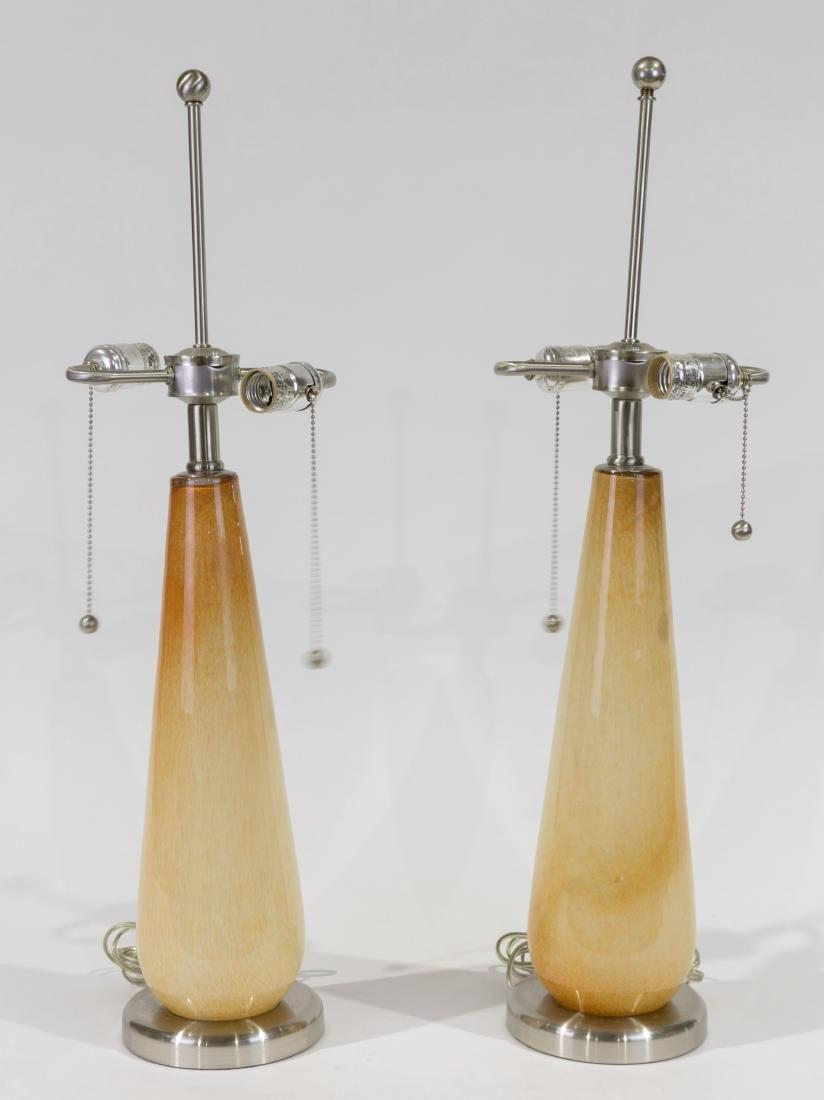Pair Murano Table Lamps