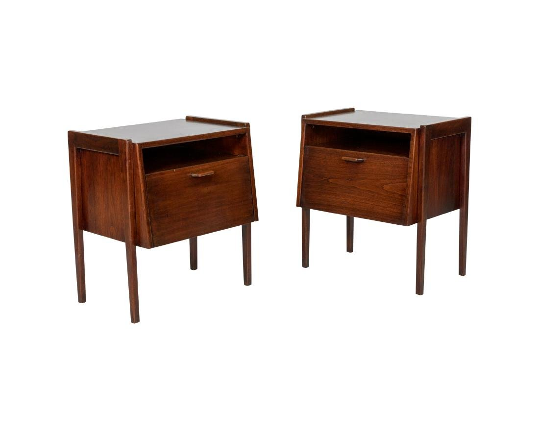 Jens Risom Pair Nightstands - Signed