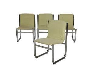 Tubular Chrome Kitchen Chairs Four